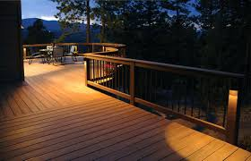 Solar Powered Post Cap Lights by Pyramid Post Cap Dekora Trends With Lights For Decks Images