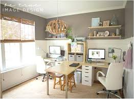 Home Office With Two Desks Trendy Stimulating Home Office Desk For Two 11 Desks