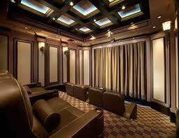 Home Theater Ceiling Lighting Coffered Ceiling With Home Theater Lighting And Wall Sconces