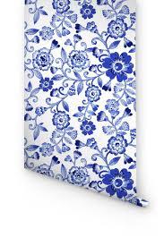 self adhesive wallpaper blue blue floral pattern self adhesive wallpaper blue flowers on your wall
