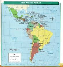 Political Map Of Latin America Adams S Latin America Project Links