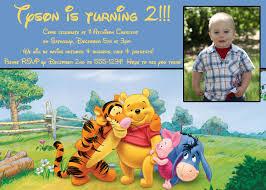Birthday Invitation Cards For Friends Winnie The Pooh Boy Birthday Invite 5x7 Printable File