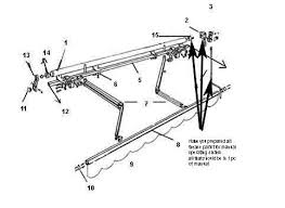 Manual Retractable Awning Outdoor Patio Manual Retractable Awning Arm Wall Mount Bracket Arm