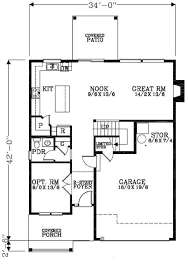 craftsman style house plan 4 beds 2 50 baths 2044 sq ft plan 53 455