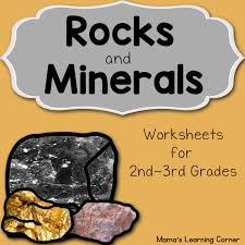rocks and minerals worksheets mamas learning corner
