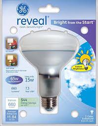 660 watt 250 volt light bulb ge lighting 87466 reveal energy smart bright from the start cfl 15