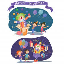 wedding invitation clown birthday greeting card vector show clowns birthday clown vectors photos and psd files free