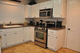 Small White Kitchen Cabinets Awesome Small Kitchen With White Cabinets White Small Kitchen
