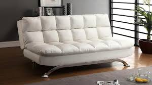 white leather futon sofa white faux leather futon cabinets beds sofas and morecabinets
