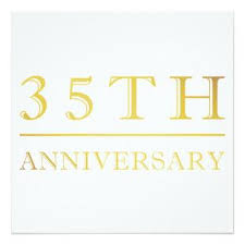 35 year wedding anniversary wedding anniversary gifts for parents 35 years lading for
