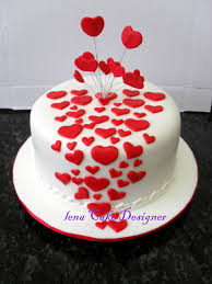 Heart Shaped Cake Covered In White Hearts Large Cake Designs