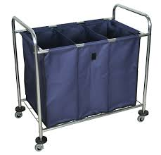Heavy Duty Laundry Hamper by Industrial Laundry Cart Divided Canvas Bag Luxor