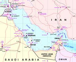 middle east map gulf of oman map of the gulf the gulf of oman leads to the arabian sea