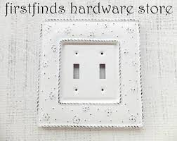 Shabby Chic Light Switch Covers by Light Switch Cover Plate Double Shabby Chic Distressed White