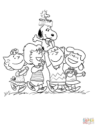 thanksgiving day coloring sheets peanuts gang coloring page free printable coloring pages
