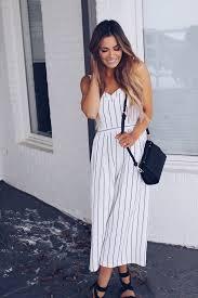 white jumpsuit felicia striped jumpsuit white vici