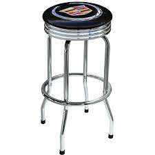furniture stainless steel workbench stool with black round seats