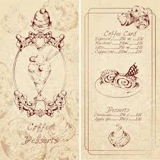 food sweets ice cream cakes sketch colored desserts menu template