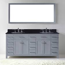 72 caroline parkway bathroom vanity in grey with black