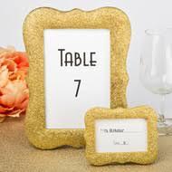 gold table number frames table number frames