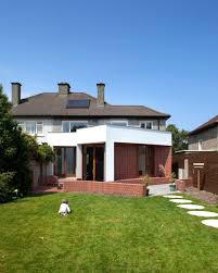 extension added to an 1950s semi detached house in dublin ireland