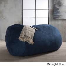 asher faux suede 6 5 foot lounge beanbag chair by christopher