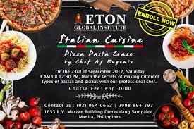 exemple am agement cuisine culinary manila eton global institute