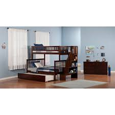 Woodland Bunk Bed Atlantic Furniture Ab56752 Woodland Staircase Bunk