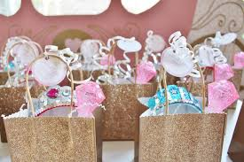 princess candy bags kara s party ideas favor bags from a princess birthday party via