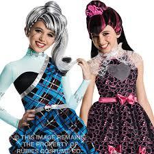 Monster Costumes Halloween Deluxe Monster Wig Girls Halloween Fancy Dress Kids Tv