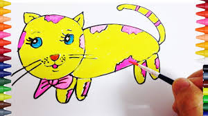 teach drawing cats to kids painting animals how to draw and