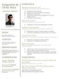 cv second de cuisine cv ifag docx cv ifag pdf page 1 1 fichier pdf
