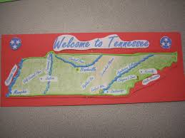 State Map Of Tennessee by Landform Map Of Tennessee In The State And A Written Summary Of