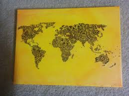 Diy World Map by Diy Henna World Map U2013 Maria Kart