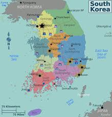 Map Of South Graphatlas Com South Korea