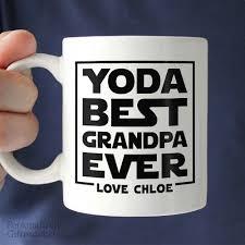 yoda best grandpa gift coffee mug u2013 personalized gift market