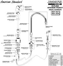 kitchen faucet components american standard kitchen faucet parts diagram plumbingwarehouse