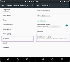 on android how to remove learned words from any keyboard on android the