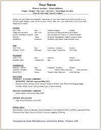 Actor Sample Resume Acting Resume Samples 10 Acting Resume Templates Free Samples