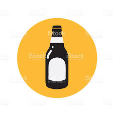 beer bottle cartoon beer bottle icon thin line for web and mobile modern minimalistic