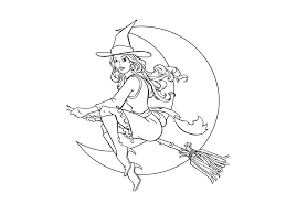 witch coloring page free printable witch coloring pages for kids