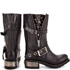 motorcycle biker boots tangle black leather tangled black leather and biker style