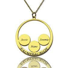 name pendant necklace images Mothers day necklace mothers family name pendant in gold jpg