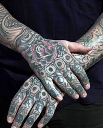 Finger Tribal - 75 finger tattoos for manly design ideas