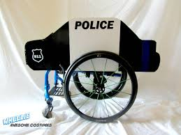 halloween costumes car police car costume kit for wheelchairs