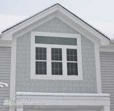 Shingle Siding in Light Mist by James Hardie and White Alside Vinyl
