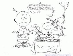 peanuts characters thanksgiving coloring pages 383875