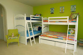 bedroom traditional bunk bed design in rustic decoration ideas