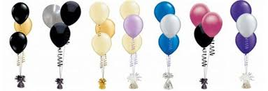 balloon bouqets 30 inflated helium balloons 10 bouquets of 3 buy helium
