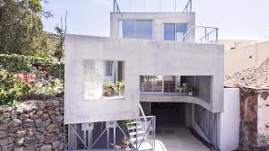 three story concrete house on sloping lot idea youtube